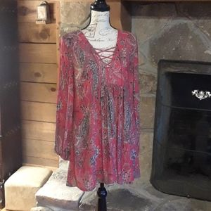 Free People lace front top